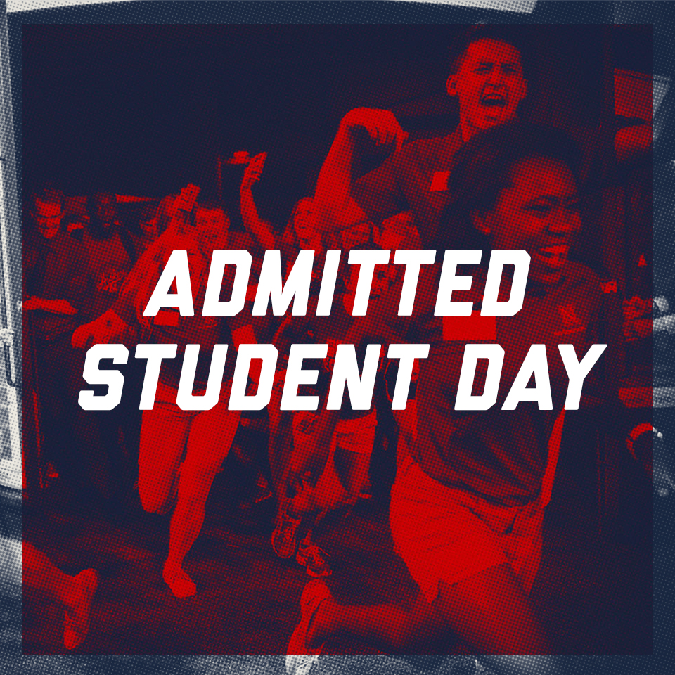 Image reads Admitted Students Day